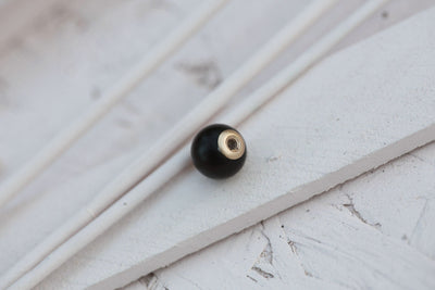 MAT BLACK AGATE ROUND BEAD CONTINUE 8MM