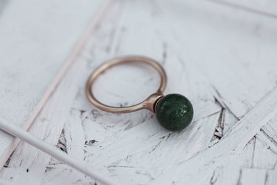 Milou 10 mm Green agate