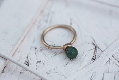 Milou 8 mm Green agate