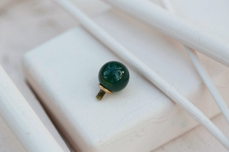 GREEN AGATE ROUND BEAD 8MM