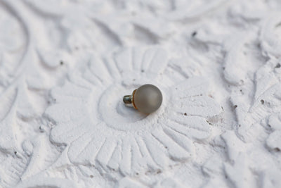 MAT GREY AGATE ROUND BEAD 6MM