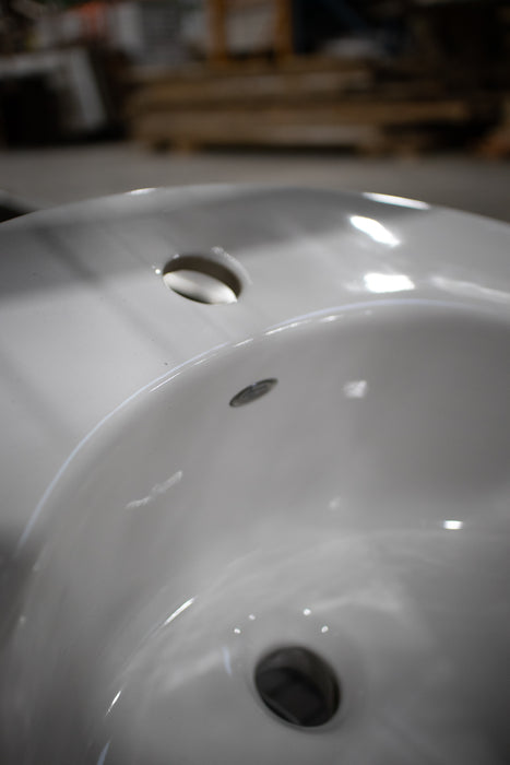 White Single Hole Sink