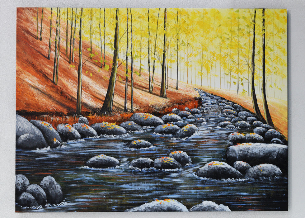 Golden Forest Painting