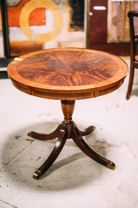 Vintage Wood Round Table