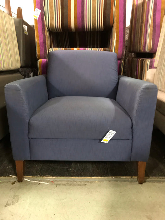 Dress Blue Canvas Lounge Chair