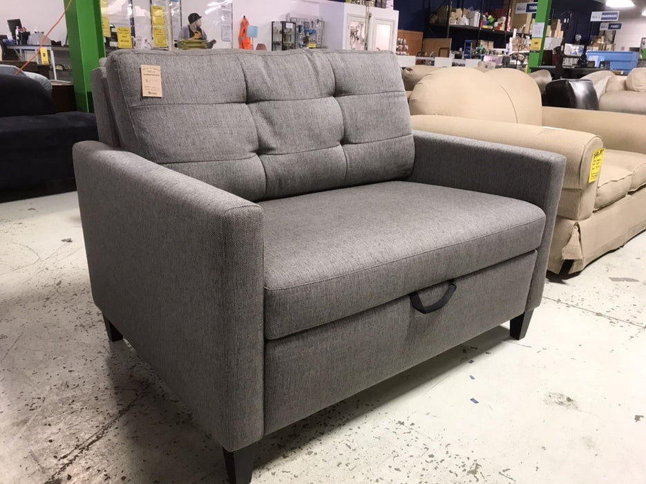 Grey Love Seat - Hide A Bed