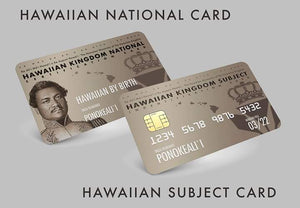 Hawaiian Nationality Certification  Kit