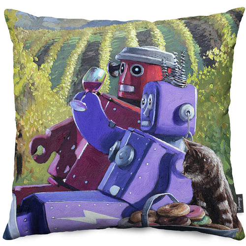 Vineyard Chill Throw Pillow