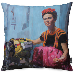 Frida's New Friend Throw Pillow