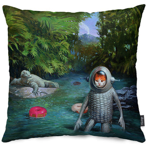 Catfish Throw Pillow