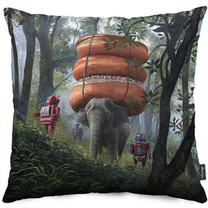 Jungle Trek Throw Pillow