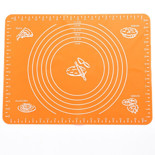 1pc Non-Stick Silicone Mat Rolling Dough Liner Pad Pastry Cake  Bakeware Paste Flour Table Sheet Kitchen Baking Tools