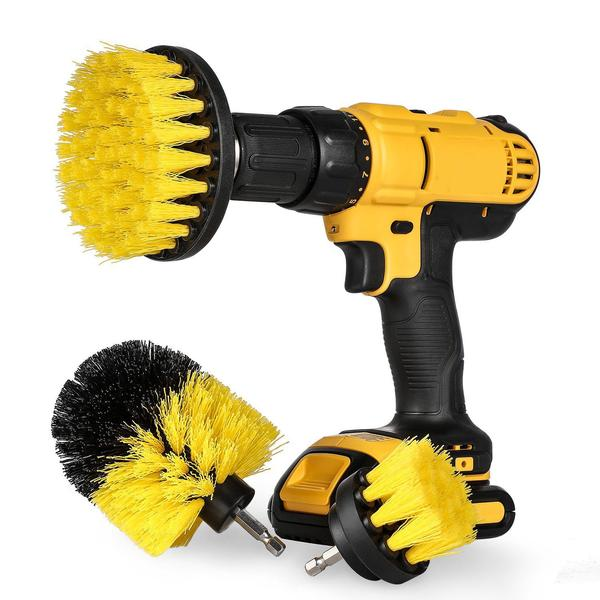 3 pcs Power Scrubber Drill Brush Set