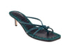 Azeline Kitten Heel - Green & Black