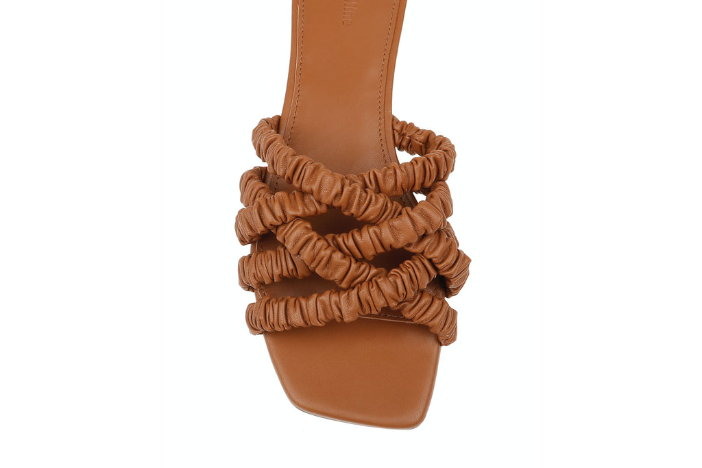 Theresa Scrunchie Sandal - Terracotta