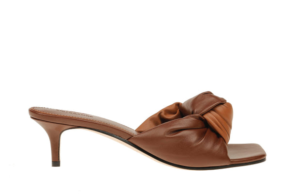 Kendall Knot Kitten Heel - Brown/Dark Brown