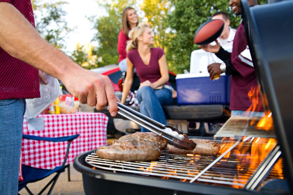 Grill for a Tailgate Party