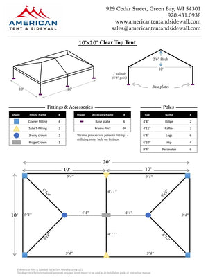10x20 Clear Top Tent