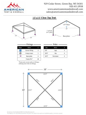 15x15 Clear Top Tent