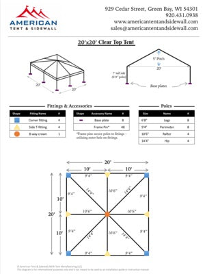 20x20 Clear Top Tent