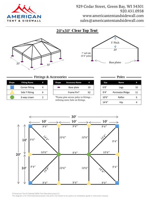 20x30 Clear Top Tent