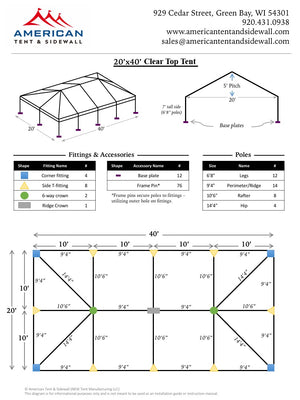 20x40 Clear Top Tent