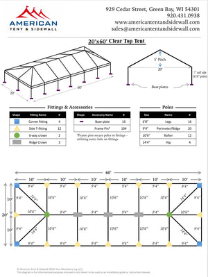 20x60 Clear Top Tent
