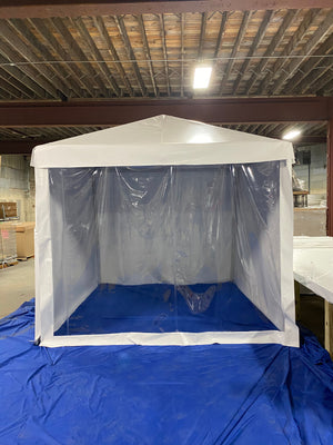10 x 10 Temporary Indoor Shelter