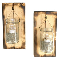 Mason Jar Wall Sconces Farmhouse