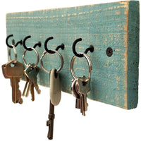 Rustic Key Holder Beach Blue