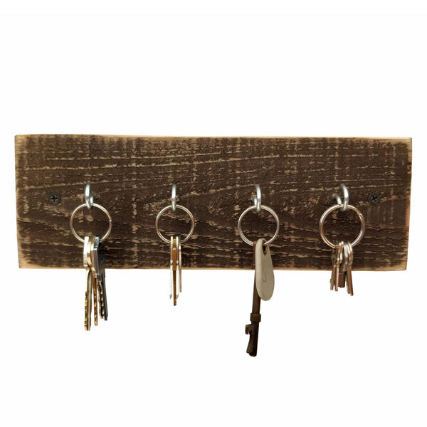 Rustic Key Holder Dark Wood