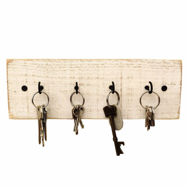 Rustic Key Holder White / Shabby Chic
