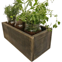 Rustic Planter Box Dark Wood