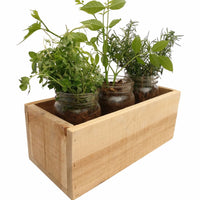 Rustic Planter Box Natural Wood