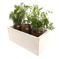 Rustic Planter Box White / Shabby Chic