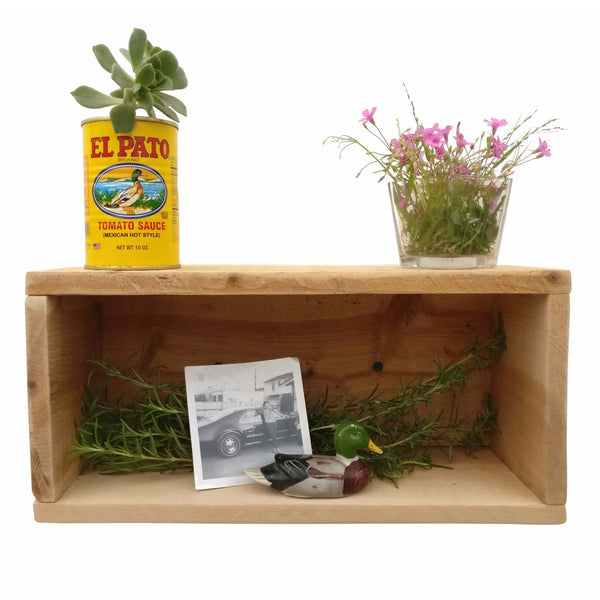 Rustic Shadow Box Natural Wood