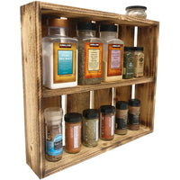 Rustic Spice Rack Farmhouse