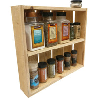 Rustic Spice Rack Natural Wood