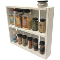 Rustic Spice Rack White / Shabby Chic