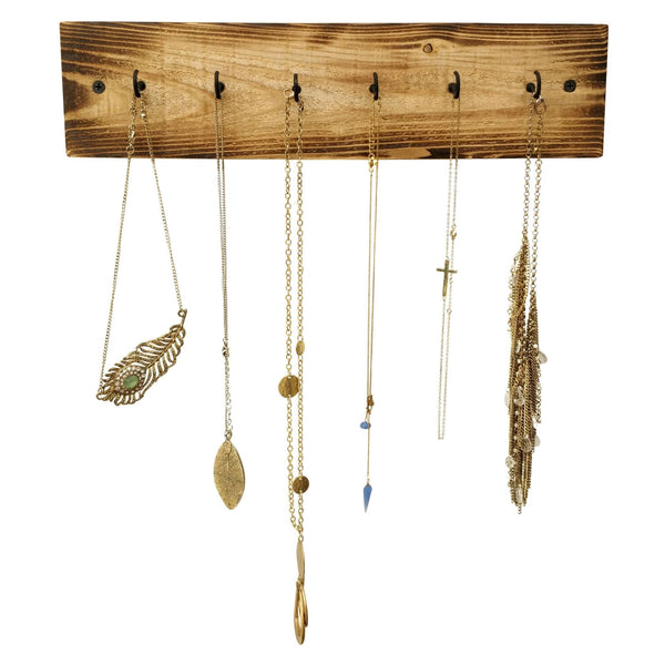 Rustic Wood Necklace Holder Farmhouse