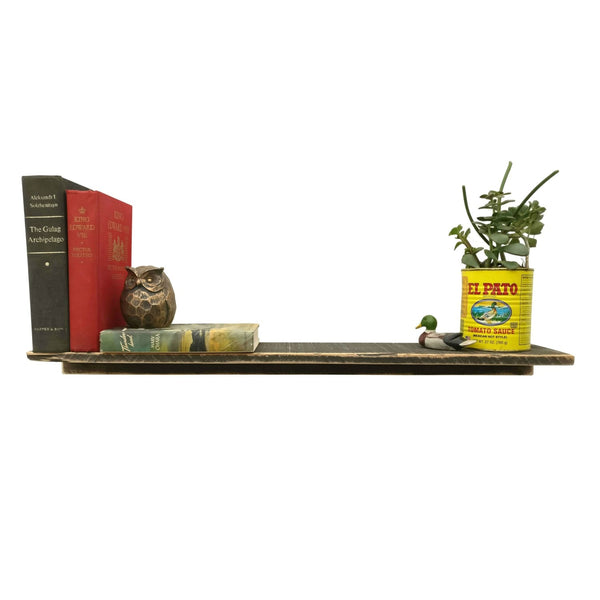 Rustic Wood Shelf Dark