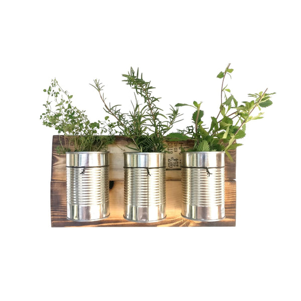 Tin Can Wall Planter Farmhouse