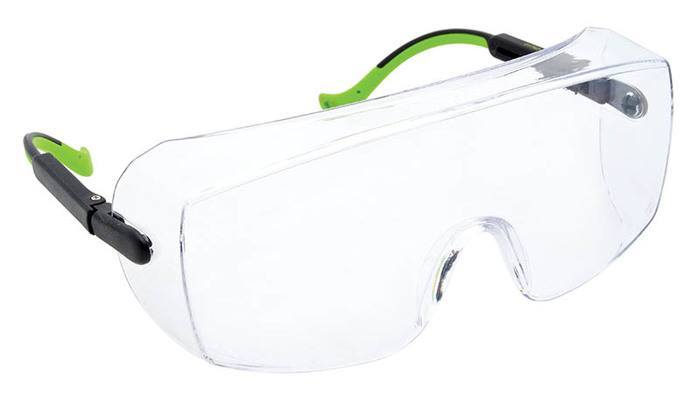 SAFETY GLASSES, OVER-WRAP, CLEAR - 01762-07C