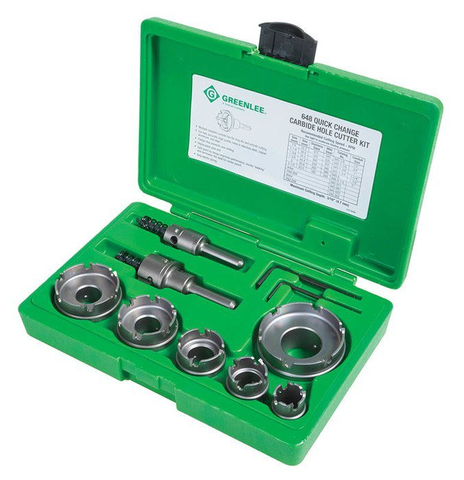 CARBIDE CUTTER SET, QUICK CHANGE, 8PC - '648