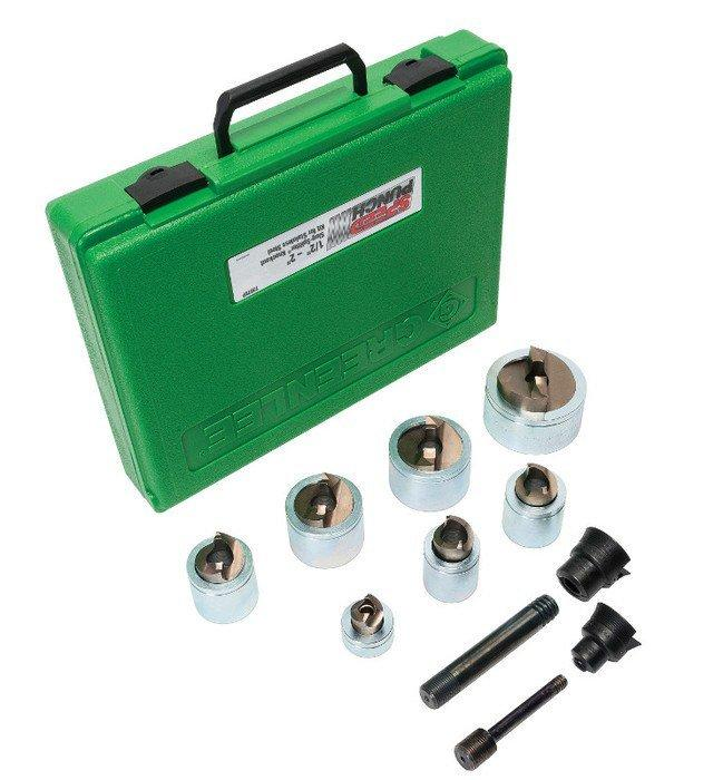 Greenlee 7506 Slug-Splitter Self Centering Knockout Punch Kit with Hydraulic Ram and Pump