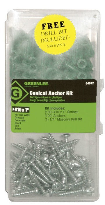 ANCHOR KIT,CONICAL (#10X1, 84012) - 84012