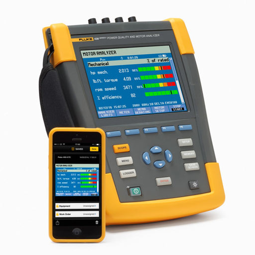 POWER QUALITY AND MOTOR ANALYZER - (FLUKE 438-II) - RENTAL