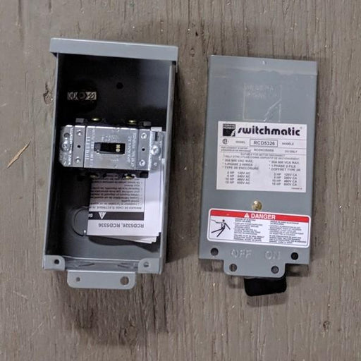 Motor Disconnect 600V 30A 1-Phase - Federal Pioneer  - (RCD5326)