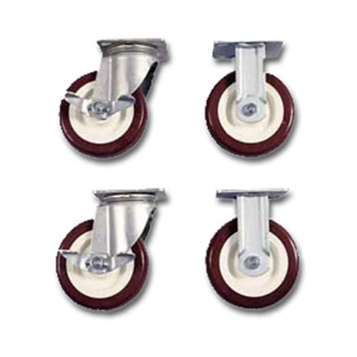 "6"" Poly Caster Set with Brakes - 516"