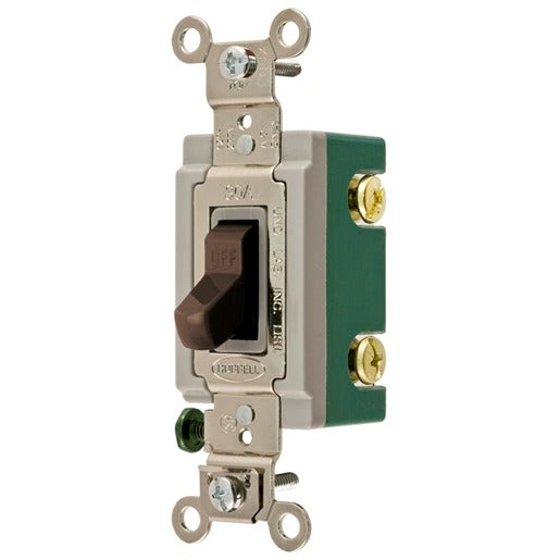 20A Brown Switch 120-277V Single Pole - Miscellaneous - (1201I-BR)